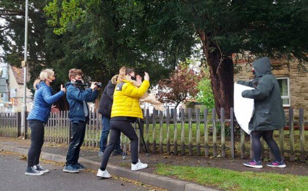 Gillingham Film Crew - Blustery day